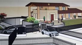 Villa con giardino progetto con certificazione Casaclima  in fase di costruzione