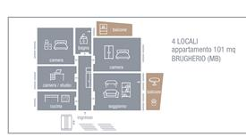 4 locali appartamento 101 mq, BRUGHERIO (MB)