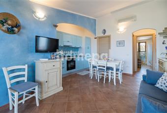 Soggiorno con cucina a vista e divano letto a due posti Sardegna SS Valledoria