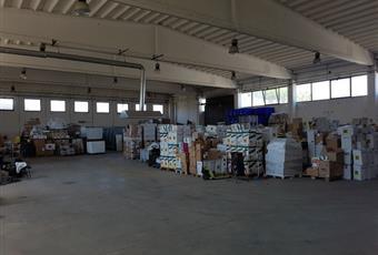Il garage è luminoso, il pavimento è piastrellato Lazio RM Pomezia