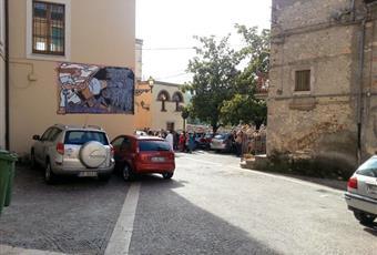 parte esterna alla casa vicino piazza paese    Lazio RI Poggio Moiano