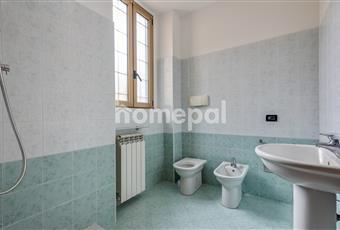 Bagno piastrellato con doccia e finestra Lombardia MI Cormano