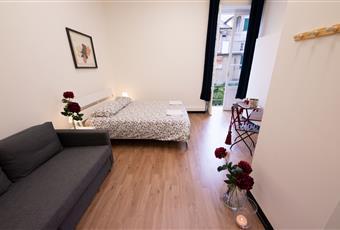 Il pavimento è di parquet, la camera è luminosa Liguria GE Genova