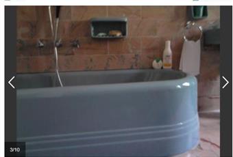 grande bagno in marmo rosa e pezzi ideal standard Piemonte AL Castelletto D'orba