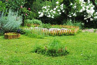 Giardino ben curato, con laghetto e molto fresco d'estate.  Piemonte AL Spigno Monferrato