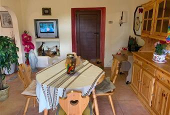 Il pavimento è piastrellato, il salone è con mattoni a vista, il salone è luminoso Abruzzo PE Pescosansonesco