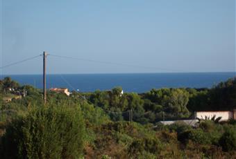 Cartina con evidenziato in rosso i confini della proprietà,la villa sulla sinistra. Sardegna CI Carloforte