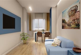 Il pavimento è di parquet, il salone è luminoso Campania NA Castellammare di Stabia