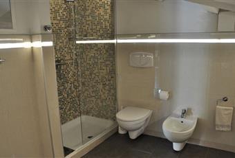 Il bagno è luminoso, il pavimento è piastrellato Toscana MS Massa
