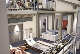 terrazzo al piano primo molto soleggiato e di notevoli dimensioni ottimo come solarium Piemonte CN Vignolo
