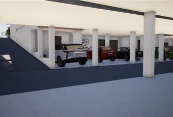al piano interrato si accede da una rampa di accesso in comunione a tutte le abitazioni del villaggio, in più ogni villa ha la possibilità di 2 parcheggi al coperto  Piemonte CN Vignolo