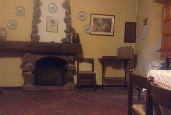 grande salone con camino in pietra e mattone Piemonte AL Cassinelle