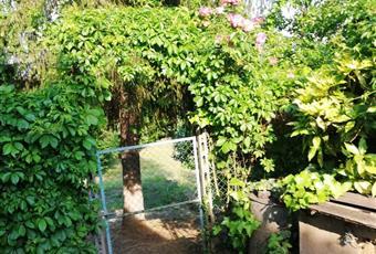 Ampio giardino privato con gazebo Piemonte AT Rocca D'arazzo