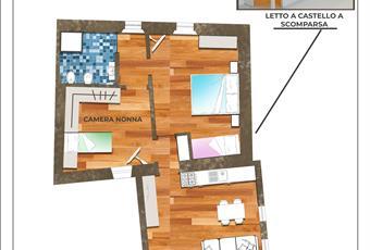 Il pavimento è di parquet, il salone è con travi a vista, il salone è luminoso Liguria SV Albisola superiore