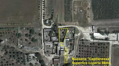 Masseria CAPITANESSA, porzione di Masseria (Sup. 607mq) con terreni agricoli circostanti (Ha 8.54.27)