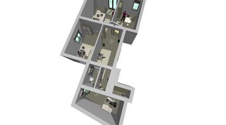 Locali o postazioni di lavoro per uso professionale in luminoso appartamento appena ristrutturato