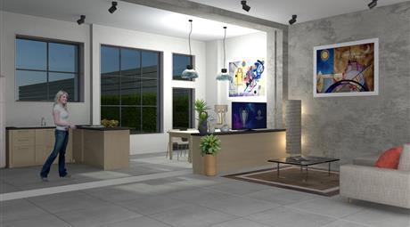 Moderno loft di nuovaristrutturazione con terrazzo