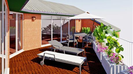 Meraviglioso Attico e Superattico con ampio spazio all'aperto: Terrazzo Giardino Pensile