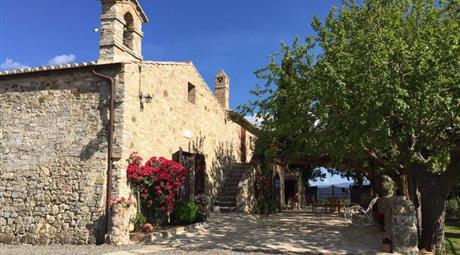 Pieve del 1300 ristrutturata San Quirico d'Orcia (SI)