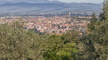 Villa con vista panoramica su Arezzo