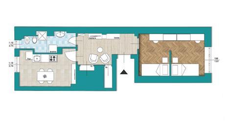Appartamento disponibile di 57 mq - piano rialzato